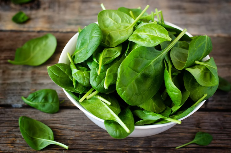 Iron in Spinach for hair loss
